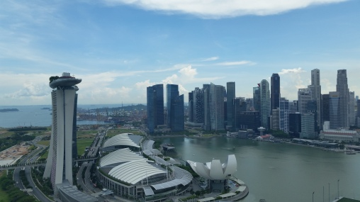 Vista de Cingapura da Singapore Flyer