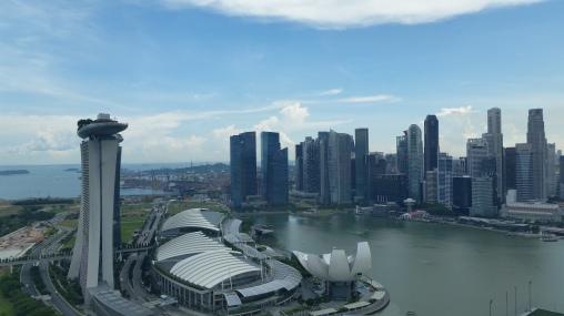 Vista de Cingapura da Singapore Flyer