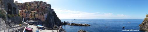 Vista panorâmica de Manarola, Cinque Terre.
